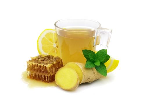 имбирь, мед и лимоном