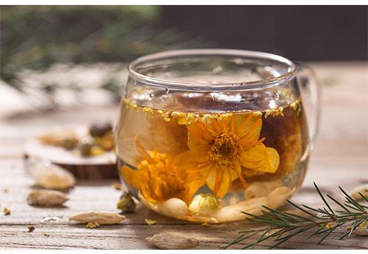 Цветочный чай для очищения организма