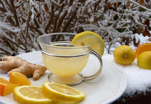 Чай с корнем имбиря