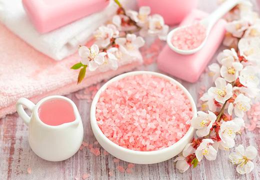 розовая соль для скраба
