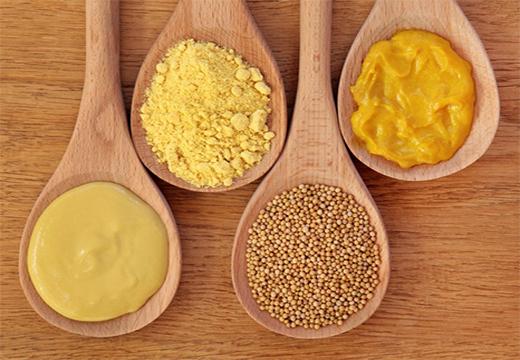 разные состояния горчицы