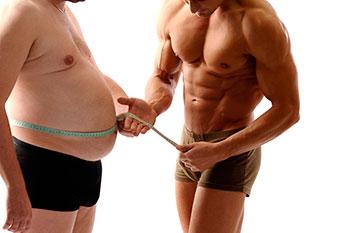 худой и толстый мужчина