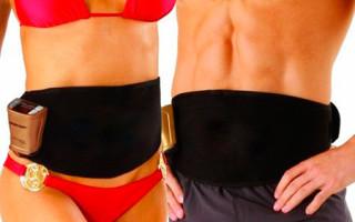 Обзор массажных поясов для похудения боков и живота: виды и эффективность