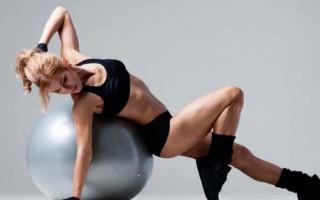 Комплекс упражнений на фитболе для похудения живота