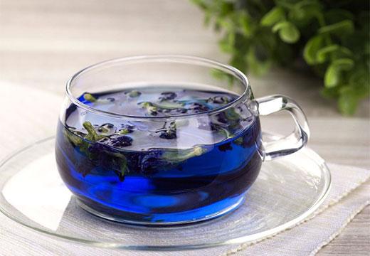 Чай с синих цветков