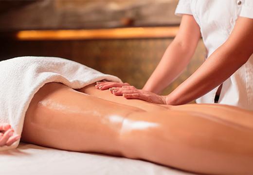 массаж ног с медом