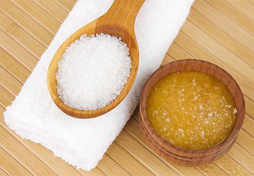 мед и соль скраб
