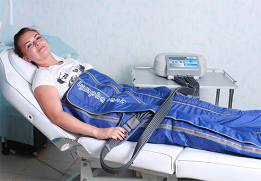 женщина на процедуре