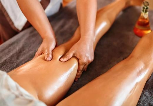 антицеллюлитный массаж с аромомаслами