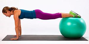 упражнения на мяче для живота