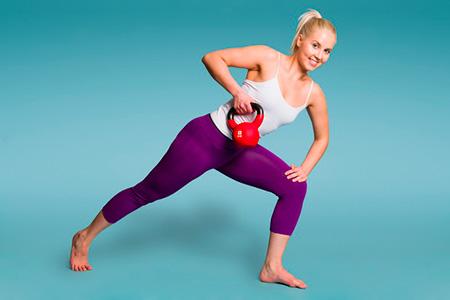 упражнения с гирей для уменьшения живота